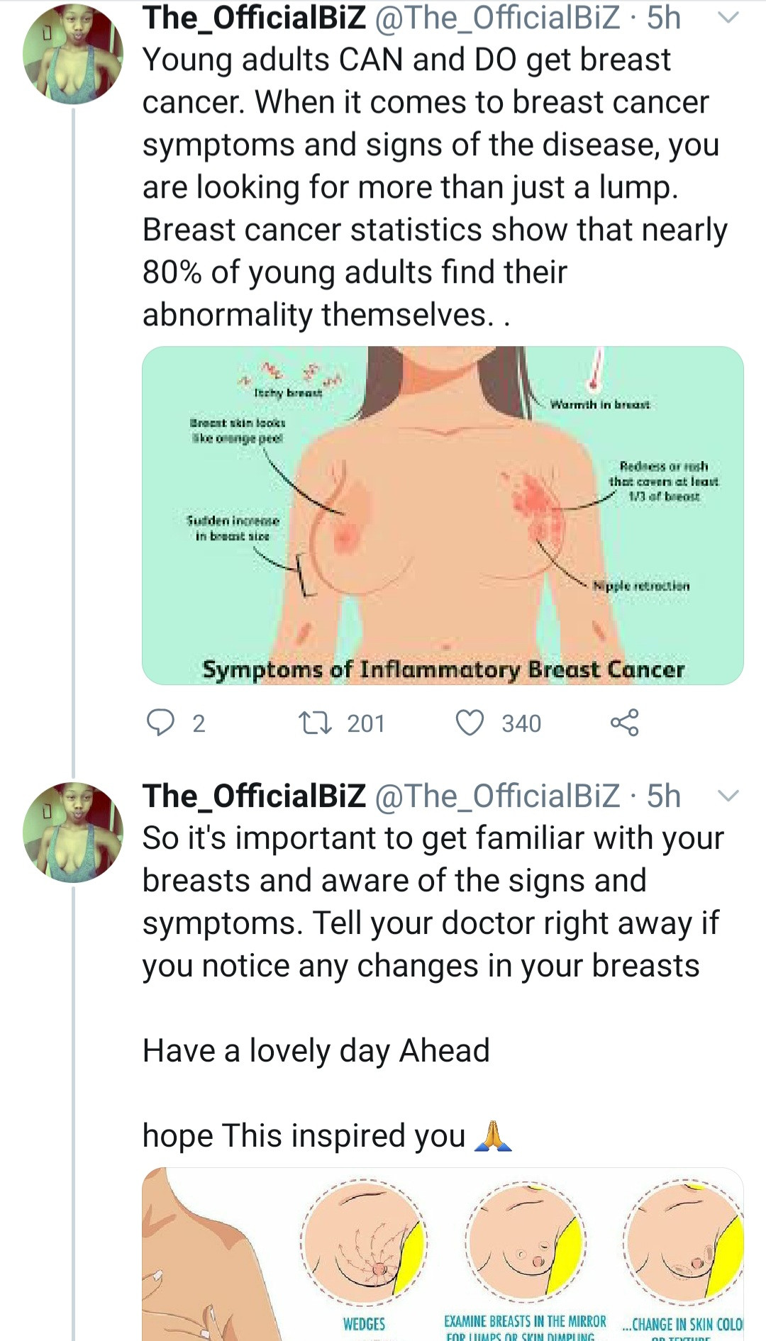 Breast Cancer Survivor Shares Topless Photo After Undergoing Double Mastectomy - Vantage News Nigeria
