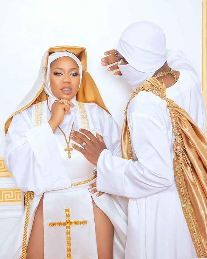 PHOTOS: Toyin Lawani Under Fire For Donning Racy Nun Outfit To Movie Premiere - Vantage News Nigeria