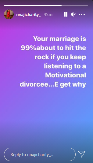 Your Marriage Will Hit The Rocks If You Keep Listening To Motivational Divorcees - Actress Nnaji Charity - Vantage News Nigeria
