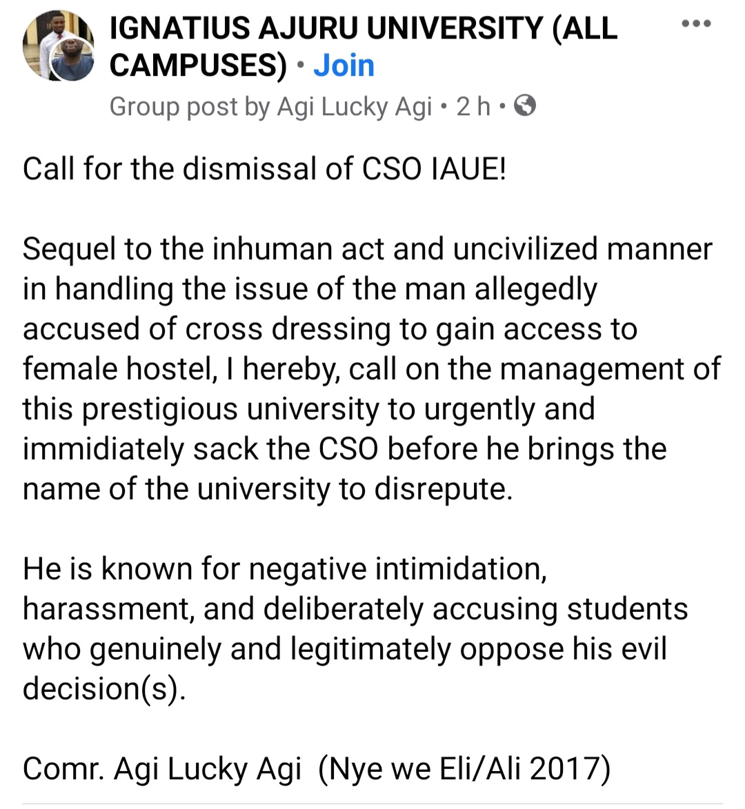 VIDEO: Drama As Varsity Students Pounce On, Strip Man After He Snuck Into Female Hostel Dressed As Woman - Vantage News Nigeria