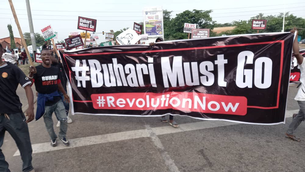 Democracy Day: Abuja June 12 Protest In Pictures - Vantage News Nigeria